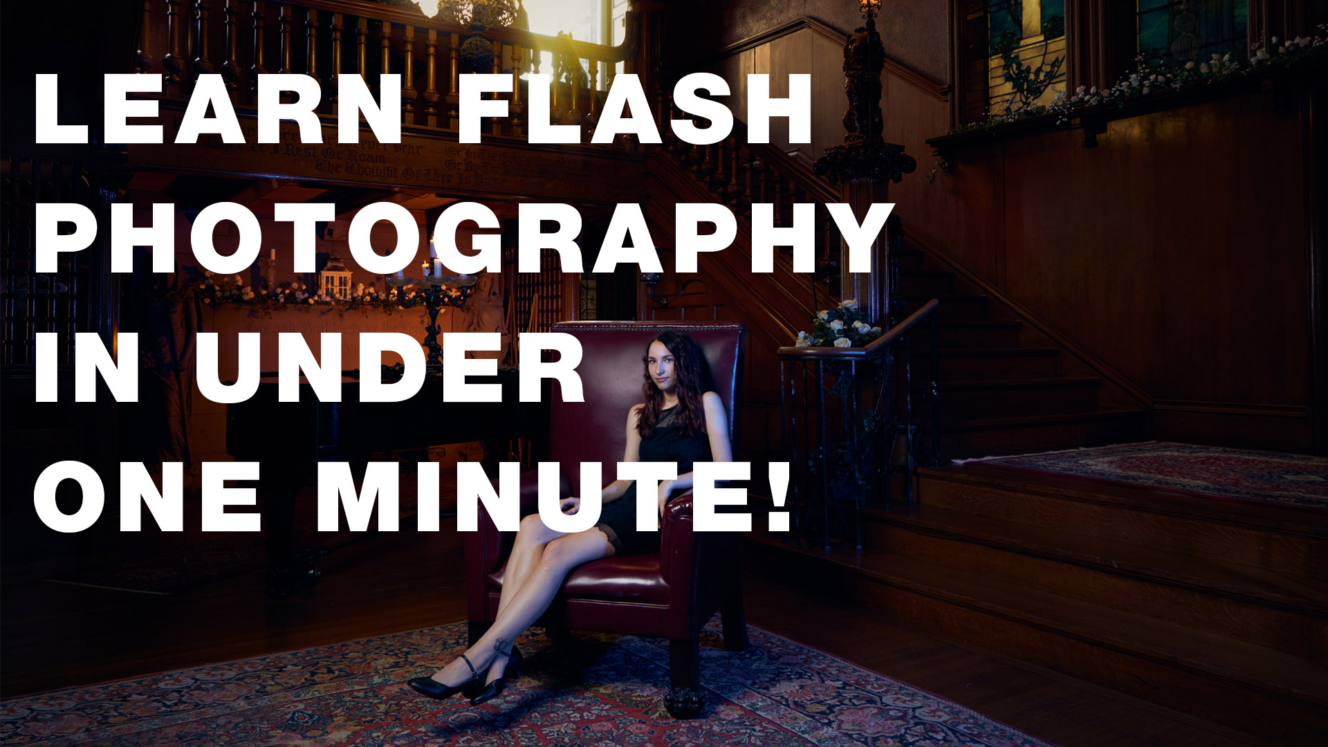 Intimidated by flash photography? You won't be after this quick video!
